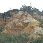 Les pinacles où dunes de couleurs différentes