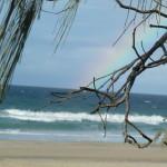 La jolie plage de Rainbow beach