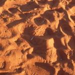 Le sable rouge d'Uluru