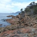 Les belles couleurs de la côte de Tasmanie