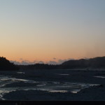 Coucher de soleil sur le glacier