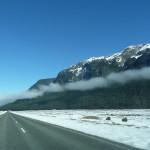 Une jolie route en hiver