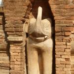 Sculpture à l'extérieur d'un des temples