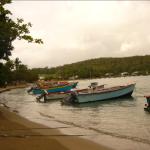 Les yoles de pêcheurs au lever du soleil