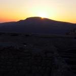 Un joli coucher du soleil sur Dana