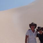 Dans le désert de sable blanc