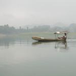 Les pêcheurs locaux sur les Lac Thac Ba