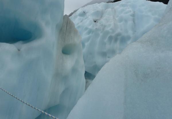 Grimpette sur le glacier
